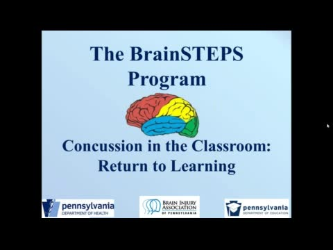 BrainSTEPS Presents: Concussions in the Classroom - Return to Learning