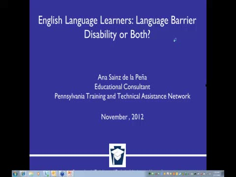 ELLs in Special Education: Language Barrier, Disability or Both?