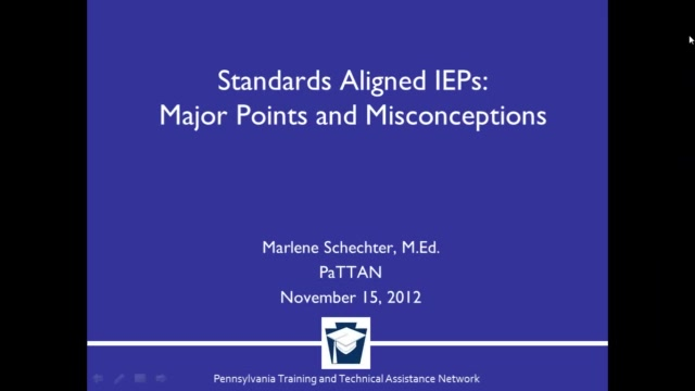 Standard Aligned IEPs: Major Points and Misconceptions