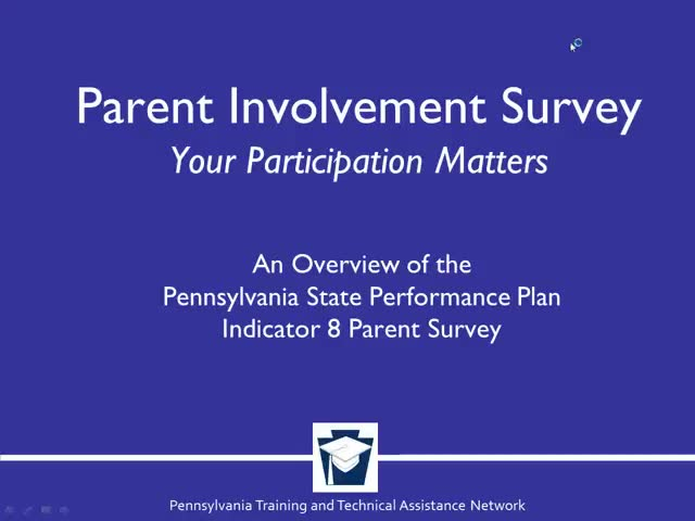 Parent Involvement Survey: Your Participation Matters