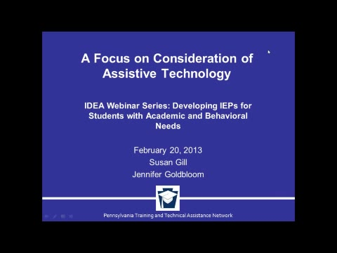 A Focus on Consideration of Assistive Technology