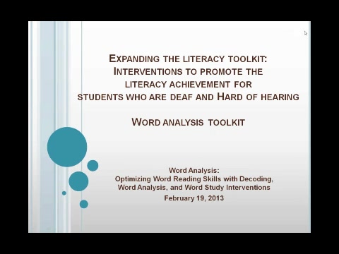 Word Analysis Toolkit: Optimizing Word Reading-Decoding, Word Analysis, and Word Study Interventions