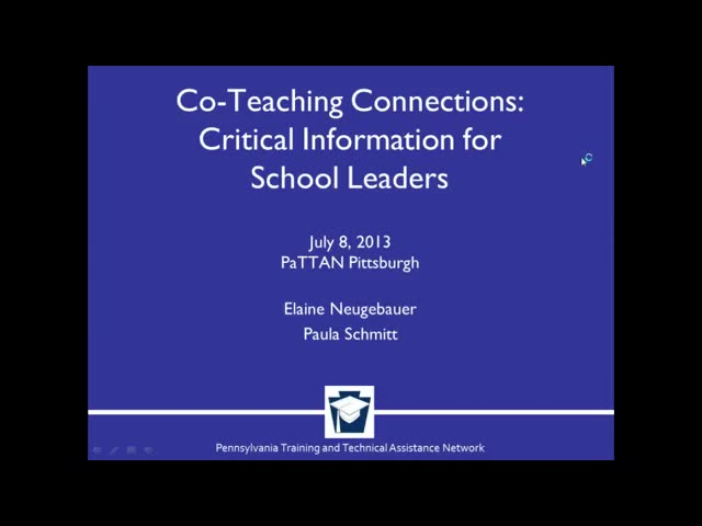 Co-Teaching Connections: Critical Information for School Leaders