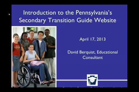 Introduction to the Pennsylvania Secondary Transition Guide Website