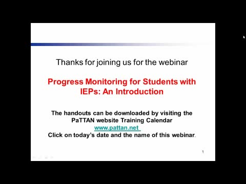 Progress Montioring for Students with IEPs: An Introduction