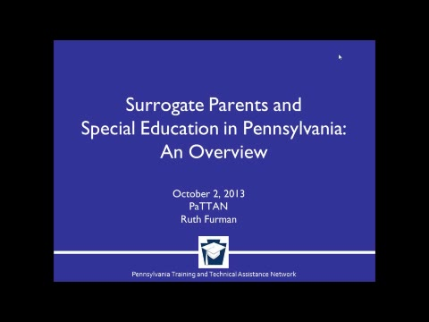 Surrogate Parents and Special Education in Pennsylvania: An Overview