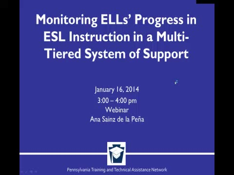Monitoring ELLs Progress in ESL Instruction in a Multi-Tiered System of Support