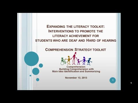 Comprehension Strategy Toolkit: Building Comprehension with Main Idea Identification and Summarizing