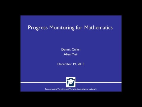 Progress Monitoring for Mathematics