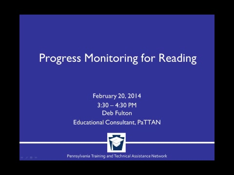 Progress Monitoring for Reading