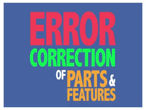 Error Correction Procedures when Teaching Tacts of Parts and Features