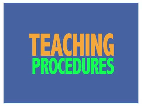 Teaching Procedures for Tacts of Parts and Features