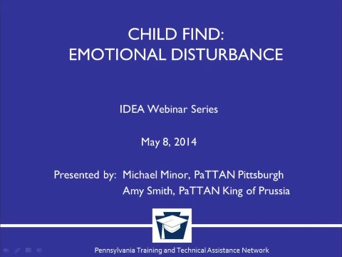 Child Find: Emotional Disturbance