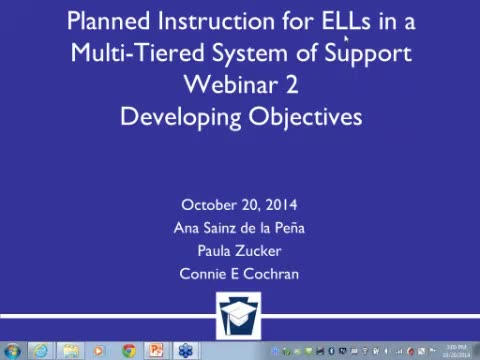 Planned Instruction for ELLs in Multi-Tier Systems of Support - Webinar 2