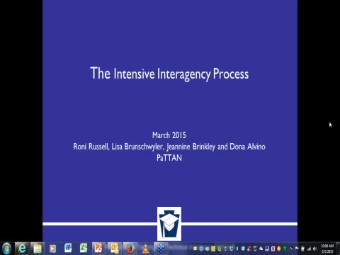 Intensive Interagency Process: Overview for Intermediate Unit Interagency Coordinators