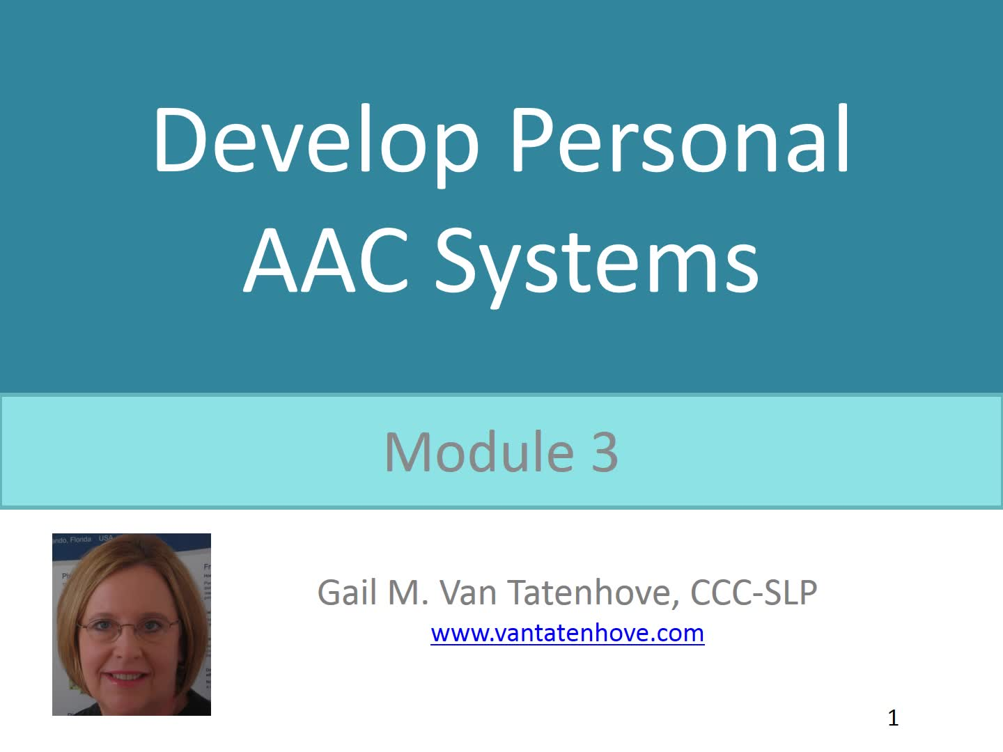 Module 3: Develop Personal AAC Systems