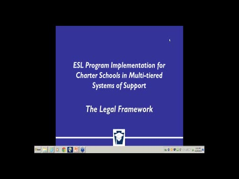 ESL Program Implementation for Charter Schools in Multi-tiered Systems of Support - The Legal Framework