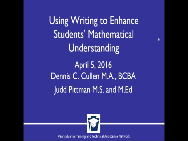 Using Writing to Enhance Students' Mathematical Understanding