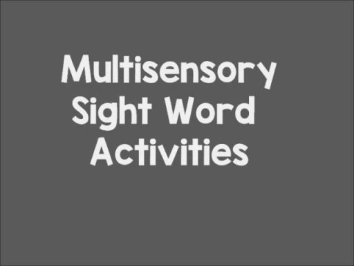 Multisensory Sight Word Activities