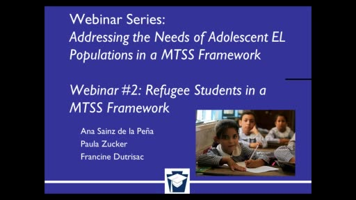 Addressing the Needs of Adolescent EL Populations in a MTSS Framework