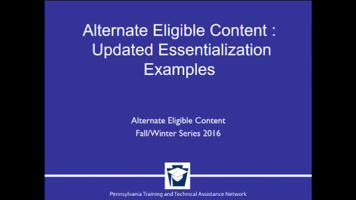 Alternate Eligible Content: Updated Essentialization Examples