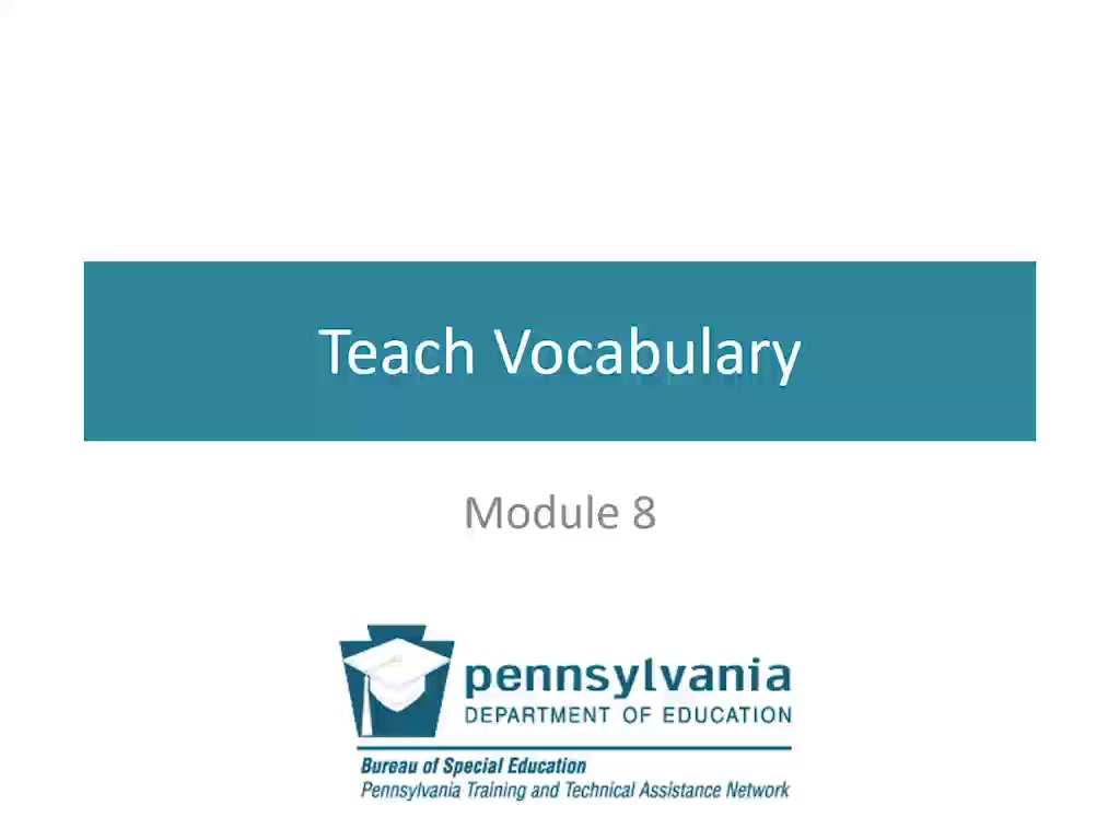 PowerAAC Module 8: Teach Vocabulary