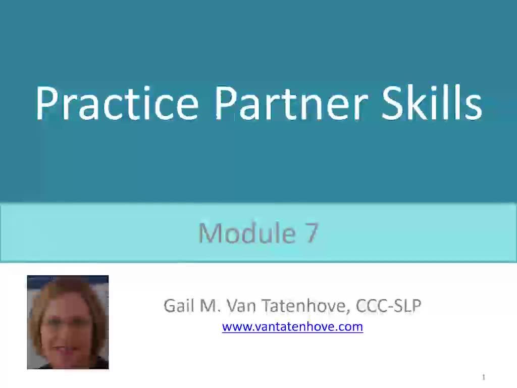 PowerAAC Module 7: Practice Partner Skills