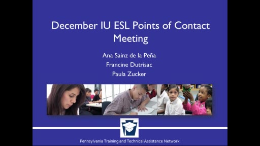ESL Point of Contact Meeting