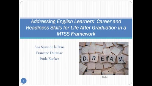 English Learners Career and Readiness Skills for Life After Graduation in an MTSS Framework
