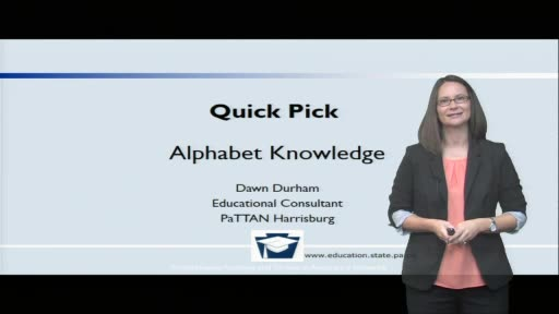 Quick Pick: Alphabet Knowledge