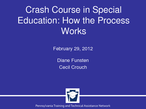 Crash Course in Special Education: How the Process Works