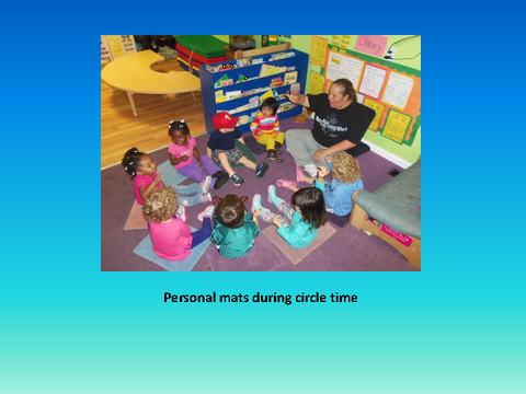 Personal mats during circle time