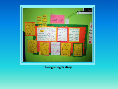 Recognizing Feelings [photograph: wall newspaper]