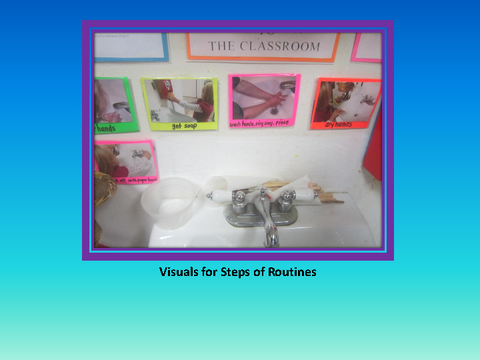 Visuals for Steps of Routines [photograph: sink]