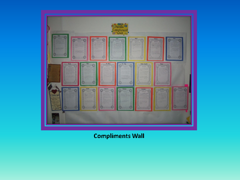 Compliments Wall [photograph: wall newspaper]