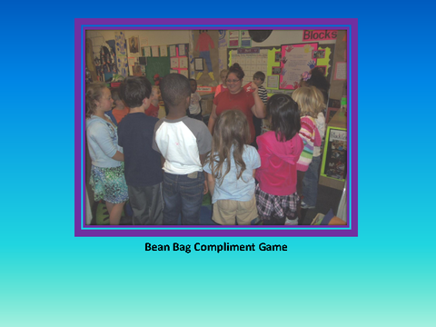 Bean Bag Compliment Game [photograph: children in class room]