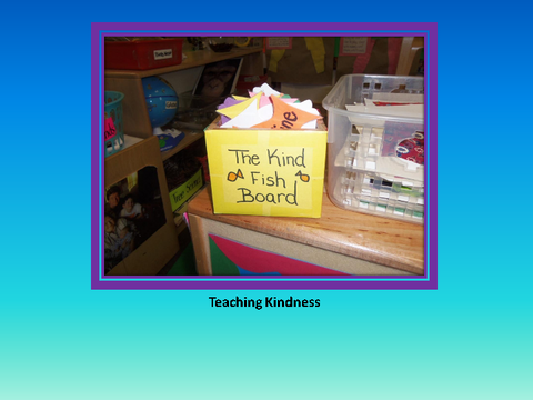 Teaching Kindness [photograph: table and note]