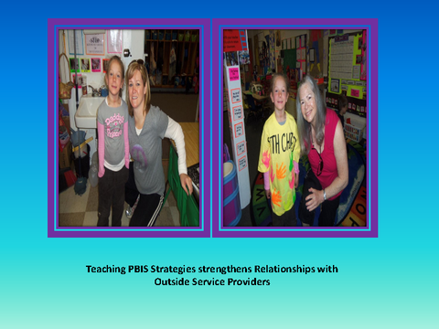 Teaching PBIS Strategies strengthens Relationships with Outside Service Prov.