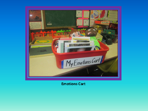 Emotions Cart [photographs: crate on table]