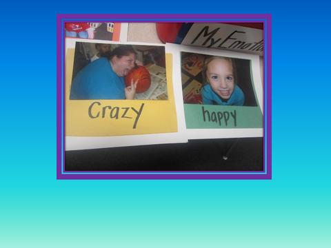 [photograph: emotion cards]