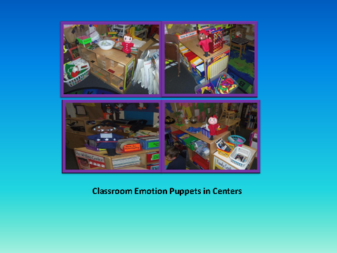 Classroom Emotion Puppets in Centers [four photographs: class room]