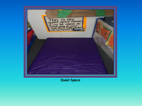 Quiet Space [photograph: mat in class room]