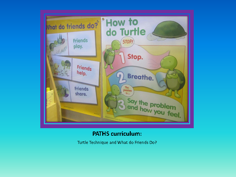 PATHS curriculum: Turtle Technique and What do Friends Do?