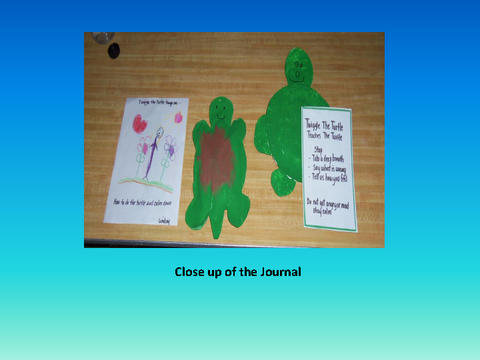 Close up of the Journal [photograph: toys on table]