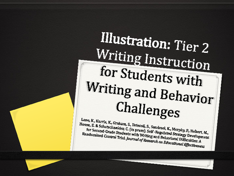 Tier 2 Writing Instruction for Students with Writing and Behavior Challenges