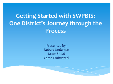 Getting Started with SWPBIS
