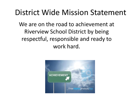 District Wide Mission Statement
