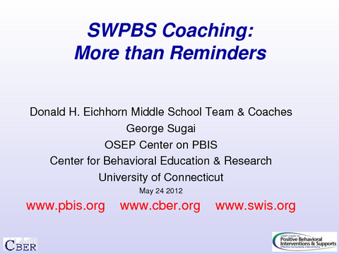 SWPBS Coaching: More than Reminders