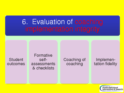 . Evaluation of coaching implementation integrity