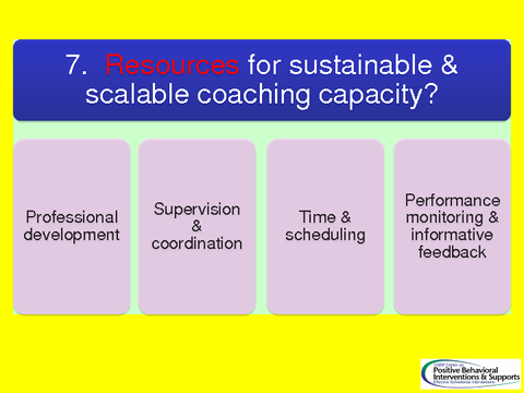 Resources for sustainable & scalable coaching capacity?
